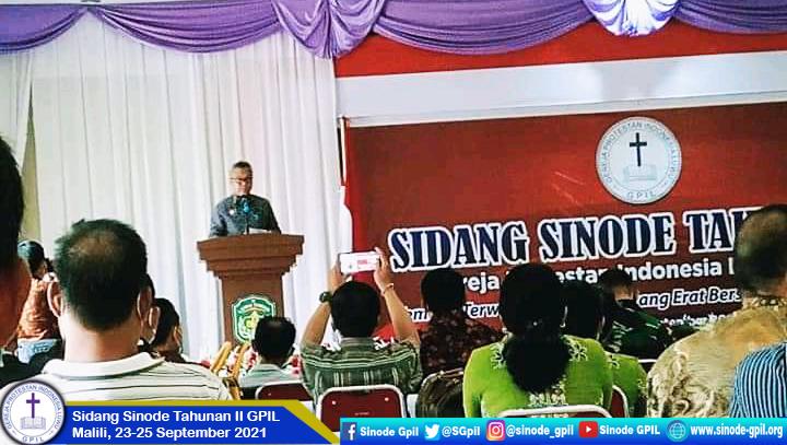 Pembukaan Sidang Sinode Tahunan II GPIL, Malili, 23-25 September 2021.
